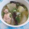 冬瓜と生姜たっぷり豚肉団子スープ。