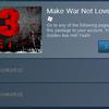 SteamのMake War Not Love 3セールでジェットセットラジオ・ゴールデンアックス・Hell Yeah!が無料配布中(終了しました)