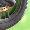 GSX-R のタイヤ交換 タイヤ入れ替え編