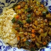 鹿挽肉と新生姜とゴーヤのキーマカレー