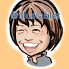iPadproで描いた 福士加代子さんの似顔絵と似顔絵が出来上がるまで。