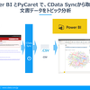 PyCaretとPower BI Desktopでトピック分析:CData Sync
