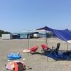 沖ノ島での海水浴(館山)