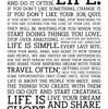 人生は短い。 情熱を身にまとい、    自分の夢を生きよう。
