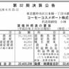 コーセーコスメポート株式会社 第32期決算公告