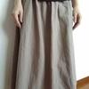 リネンのワンピからリメイクしたスカート。