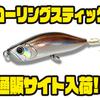 【ウォーターランド】ローリングアクションで魚を誘う人気ルアー「ローリングスティック」通販サイト入荷!