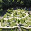 霊園風景 その31  「‥‥樹木墓を空から見る」
