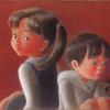 パステル色鉛筆「おとちゃんとしいちゃん」