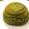 『抹茶ドームクーヘン』。バームクーヘンに餡子を組み合わせた山田屋まんじゅうの新お菓子。