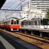 阪神8000系 8241Fと近鉄9020系 EE32+EE33