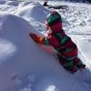 雪だるまを作って遊んだよ