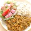 カボチャとひよこ豆のドライカレー