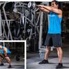 ケトルベルトレーニング中の安全と効果のための推奨事項(腰椎の動きをコントロールする筋群(すなわち「コア(体幹)」)の主な機能は、力が下半身からキネティックチェーンを通じて伝わる際に腰椎を固くしっかりと支え補強することになる)