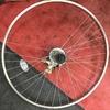 自転車の車輪を壊しても盗難したいの?