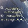 ブログ運営をして約1年目の収益報告!1月は5000円代でありました˚✧₊⁎❝᷀ົཽ≀ˍ̮❝᷀ົཽ⁎⁺˳✧༚