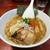 あまり辛くないような(合原比)。バガボンドの火山麺@鹿児島市中央町