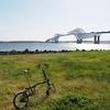 ブロンプトン号ポタ散歩 7年ぶりに若洲公園サイクリング テントの名門ogawaキャンパル直営店「GRAND lodge」新木場店訪問