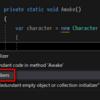 【ReSharper】オブジェクト初期化子を自動で記述する