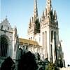 カンペールのサン・コランタン大聖堂にて(ブルターニュ地方)