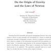 天才ているんだなあ『On the Origin of Gravityand the Laws of Newton』Erik Verlinde。重力をエントロピー的な視点から記述。