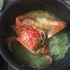 千葉ポートパークで釣れたガザミでスープ作ってみた。