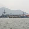 函館港をみわたすと…