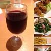 デニモバクーポンを使って、つまみ3品と赤ワイン at デニーズ_北池袋店