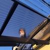台風被害で破損したカーポートの屋根材の交換工事!青空に映えるくらいにキレイになりました!
