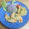 我が家の食卓ものがたり 鶏ささみのチーズ焼き カレースパ添え より。
