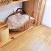 キッチン脇の棚/かご収納