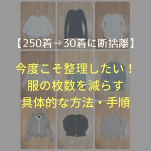 【250着→30着に断捨離】今度こそ整理したい!服の枚数を減らす具体的な方法・手順教えます