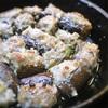 茄子の餃子、肉はさみ焼き