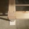 物置棚 仮組み 天板の貼り付け 筋交い
