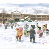 雪が降ると子供たちはワクワク楽しい雪合戦!!