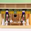 神鏡サイズを2寸にした大型のガラス箱宮神殿三社の祭り例