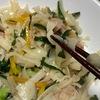 ばち麺(うどんの切れ端)で作るソーミンチャンプルー