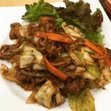 ★★牛肉と野菜のコク旨炒め定食[大戸屋]