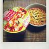 日清食品の「カップヌードル 旨辛チーズスンドゥブ味」を食べました。