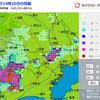 東京でも大雷雨(江戸川区はほぼ降らず)