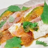 焼きカボチャのおつまみメニュー~ベーコン、クリームチーズ、紫蘇を添えて