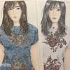 美人画ぬりえより「睨める穂波」配色を2パターンで塗ってみた!