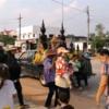 タイ東北部コーンケーンの田舎のソンクランをご覧ください。