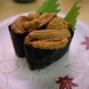 魚市場の回転寿司はネタが大きい  @那珂湊  森田水産