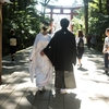 2017/10/02 彌彦神社で結婚式を挙げた