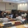 ハードな一日:学部授業「ビジネスコミュニケーション」。教育内容説明会「大学改革の多摩大モデル」。大学院授業「インサイトコミュニケーション」。