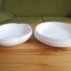 白くて薄いお気に入りの食器