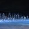 冬の北海道旅行!青い池に行くならライトアップされている夜がおすすめ!