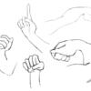 サーバルちゃんの手模写