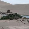 敦煌、鳴砂山の月牙泉-中国西北シルクロードの旅(3)